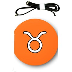 Taurus Symbol Sign Orange Shoulder Sling Bags