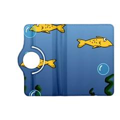 Water Bubbles Fish Seaworld Blue Kindle Fire Hd (2013) Flip 360 Case