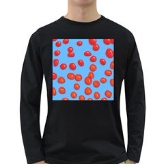 Tomatoes Fruite Slice Red Long Sleeve Dark T Shirts