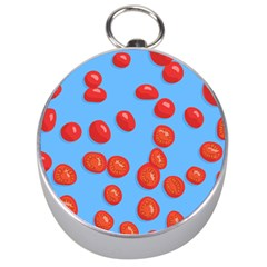 Tomatoes Fruite Slice Red Silver Compasses