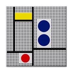 Watermark Circle Polka Dots Black Red Yellow Plaid Face Towel