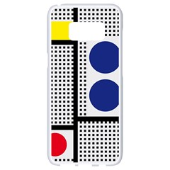 Watermark Circle Polka Dots Black Red Yellow Plaid Samsung Galaxy S8 White Seamless Case