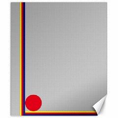 Watermark Circle Polka Dots Black Red Canvas 20  X 24