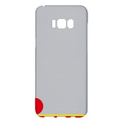 Watermark Circle Polka Dots Black Red Samsung Galaxy S8 Plus Hardshell Case