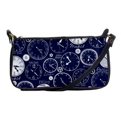 Time World Clocks Shoulder Clutch Bags