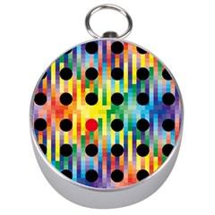 Watermark Circles Squares Polka Dots Rainbow Plaid Silver Compasses