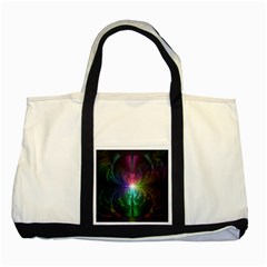 Anodized Rainbow Eyes And Metallic Fractal Flares Two Tone Tote Bag