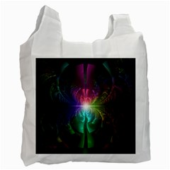 Anodized Rainbow Eyes And Metallic Fractal Flares Recycle Bag (one Side)
