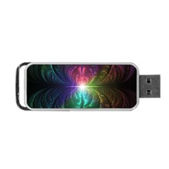 Anodized Rainbow Eyes And Metallic Fractal Flares Portable Usb Flash (two Sides)