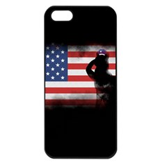 Honor Our Heroes On Memorial Day Apple Iphone 5 Seamless Case (black)
