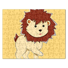Happy Cartoon Baby Lion Rectangular Jigsaw Puzzl