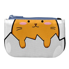 Yellow Cat Egg Large Coin Purse