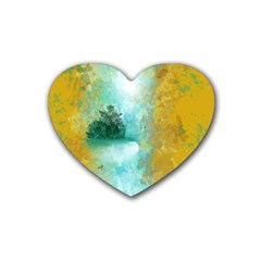 Turquoise River Rubber Coaster (heart)