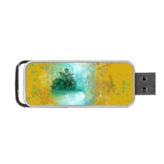 Turquoise River Portable Usb Flash (one Side)