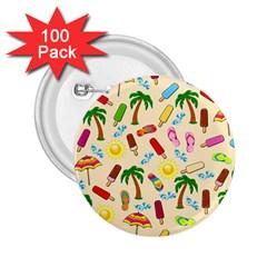 Beach Pattern 2 25  Buttons (100 Pack)