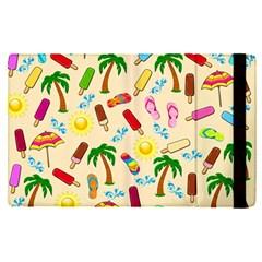 Beach Pattern Apple Ipad Pro 12 9   Flip Case