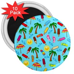 Beach Pattern 3  Magnets (10 Pack)