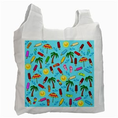 Beach Pattern Recycle Bag (one Side)