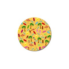 Beach Pattern Golf Ball Marker (10 Pack)