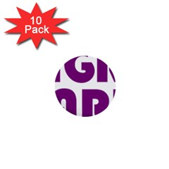 Migraine Warrior With Ribbon 1  Mini Buttons (10 Pack)