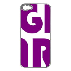 Migraine Warrior With Ribbon Apple Iphone 5 Case (silver)