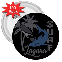 Surf   Laguna 3  Buttons (100 Pack)