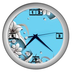 Annabellerockzflowers 12 Wall Clock (silver)