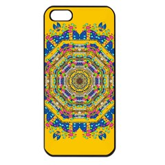 Happy Fantasy Earth Mandala Apple Iphone 5 Seamless Case (black)