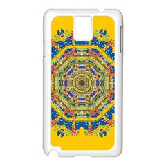 Happy Fantasy Earth Mandala Samsung Galaxy Note 3 N9005 Case (white)