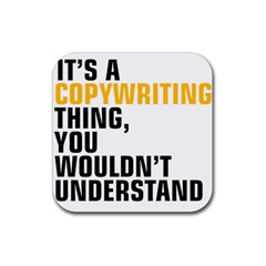 07 Copywriting Thing Copy Rubber Coaster (square)