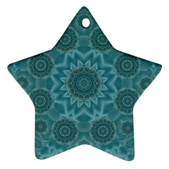 Wood And Stars In The Blue Pop Art Ornament (star)