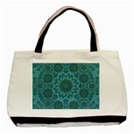 Wood And Stars In The Blue Pop Art Basic Tote Bag (Two Sides) Back