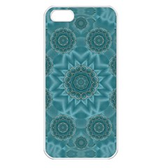 Wood And Stars In The Blue Pop Art Apple Iphone 5 Seamless Case (white)