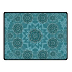 Wood And Stars In The Blue Pop Art Double Sided Fleece Blanket (small)