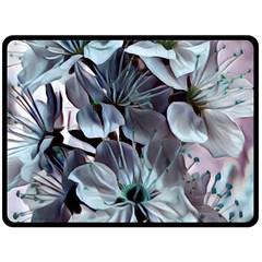 Wonderful Silky Flowers B Double Sided Fleece Blanket (large)