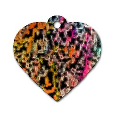 Colorful Texture                     Dog Tag Heart (one Side)