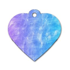 Blue Purple Watercolors                     Dog Tag Heart (one Side)