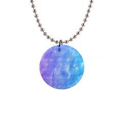 Blue purple watercolors                     1  Button Necklace
