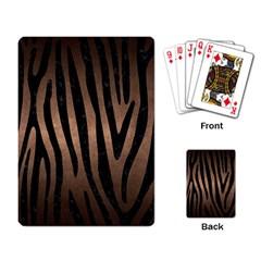 Skin4 Black Marble & Bronze Metal Playing Cards Single Design