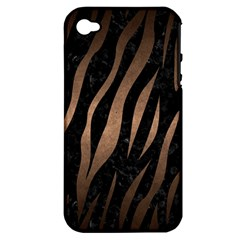 Skin3 Black Marble & Bronze Metal Apple Iphone 4/4s Hardshell Case (pc+silicone)