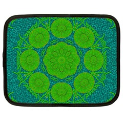 Summer And Festive Touch Of Peace And Fantasy Netbook Case (xl)
