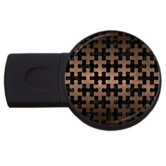 Puzzle1 Black Marble & Bronze Metal Usb Flash Drive Round (2 Gb)