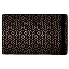 Hexagon1 Black Marble & Bronze Metal Apple Ipad Pro 9 7   Flip Case