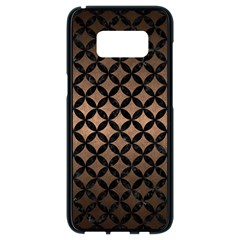Circles3 Black Marble & Bronze Metal (r) Samsung Galaxy S8 Black Seamless Case