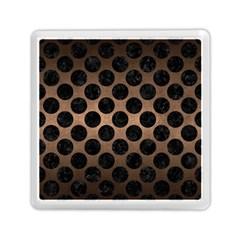 Circles2 Black Marble & Bronze Metal (r) Memory Card Reader (square)