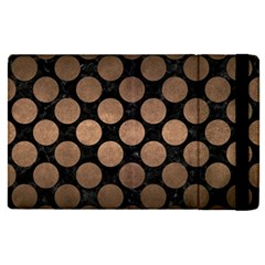 Circles2 Black Marble & Bronze Metal Apple Ipad Pro 9 7   Flip Case