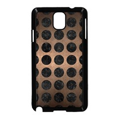 Circles1 Black Marble & Bronze Metal (r) Samsung Galaxy Note 3 Neo Hardshell Case (black)
