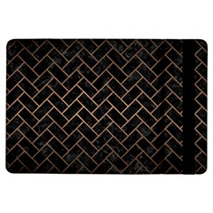 Brick2 Black Marble & Bronze Metal Apple Ipad Air Flip Case