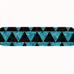 Triangle2 Black Marble & Blue Green Water Large Bar Mat