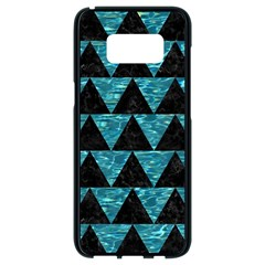 Triangle2 Black Marble & Blue Green Water Samsung Galaxy S8 Black Seamless Case